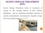 in situ sewage treatment ist
