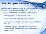 first european semester 2012
