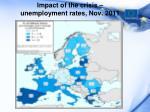 impact of the crisis unemployment rates nov 2011