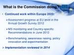what is the commission doing1