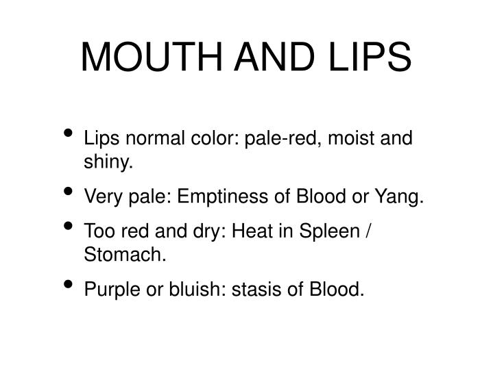 MOUTH AND LIPS