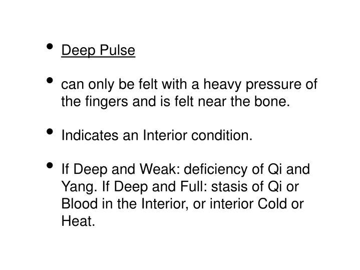 Deep Pulse