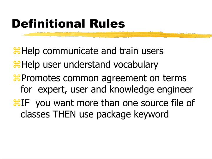 Definitional Rules