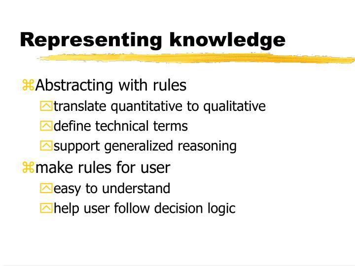 Representing knowledge