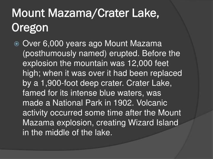Mount mazama crater lake oregon