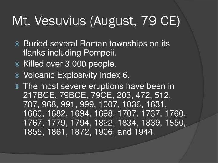 Mt. Vesuvius (August, 79 CE)