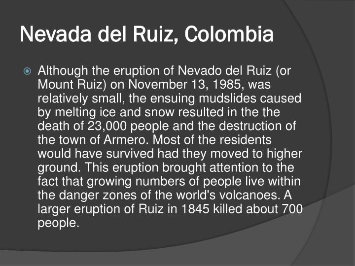 Nevada del Ruiz, Colombia