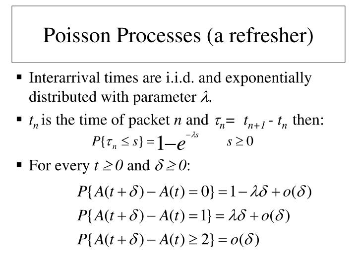 Poisson Processes (a refresher)