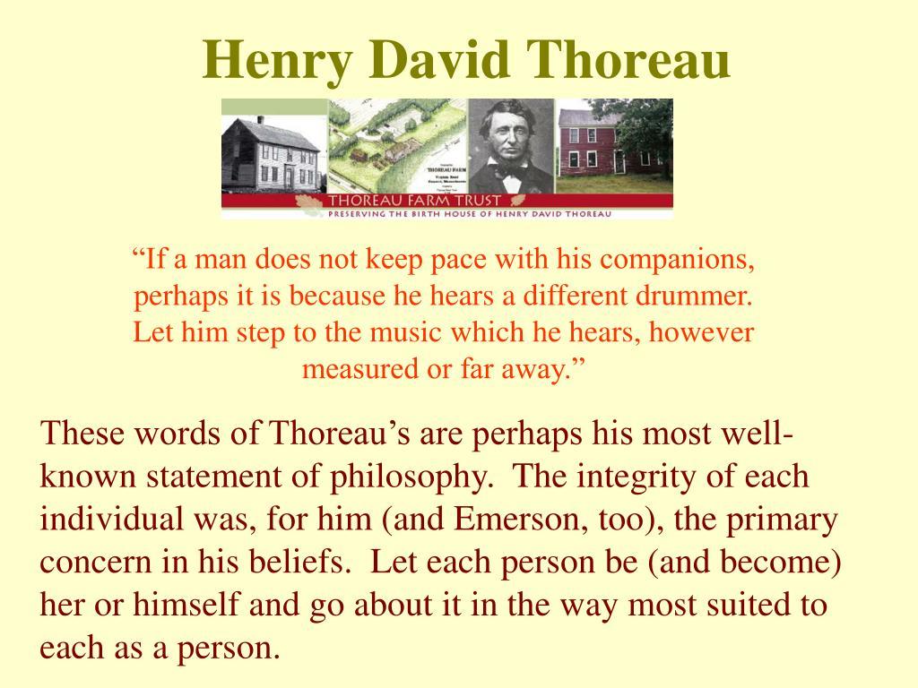 thoreau beliefs