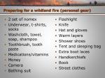 preparing for a wildland fire personal gear