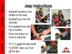 jeep instructions