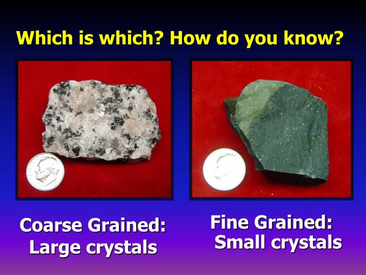 Coarse Grained: Large crystals