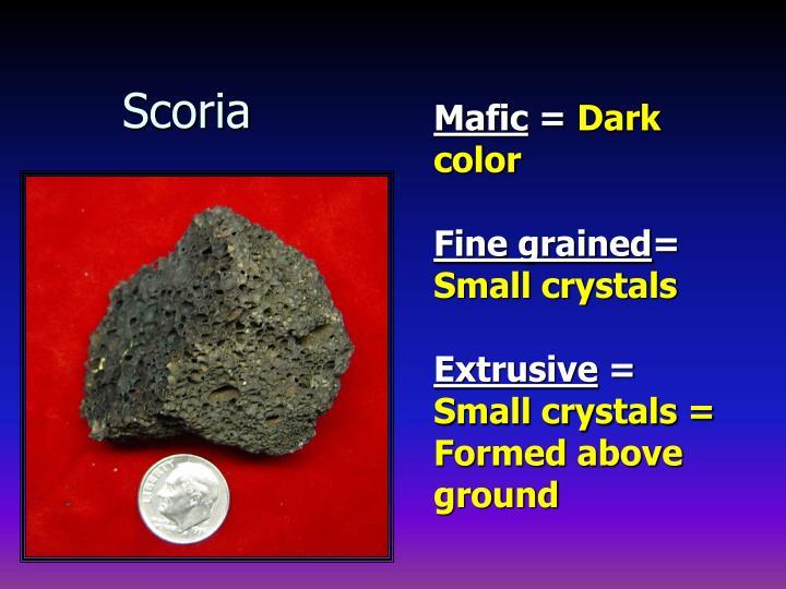 Scoria
