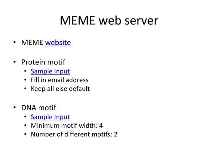 MEME web server
