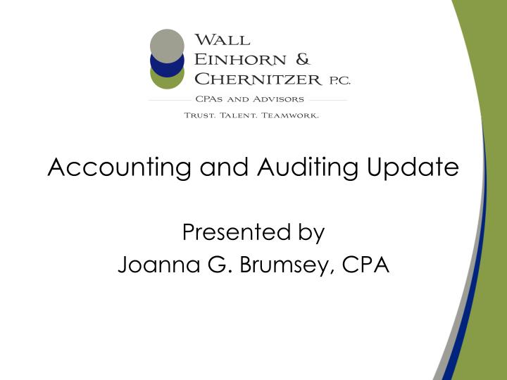 accounting and auditing update n.