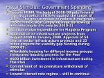 fiscal stimulus government spending
