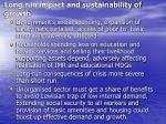 long run impact and sustainability of growth
