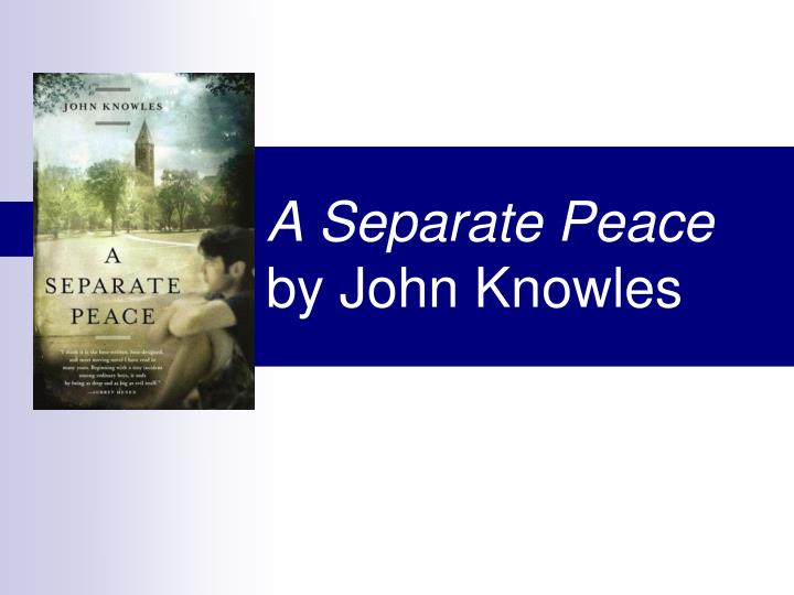 the archetypal symbols found in genesis represented in john knowles novel a separate peace