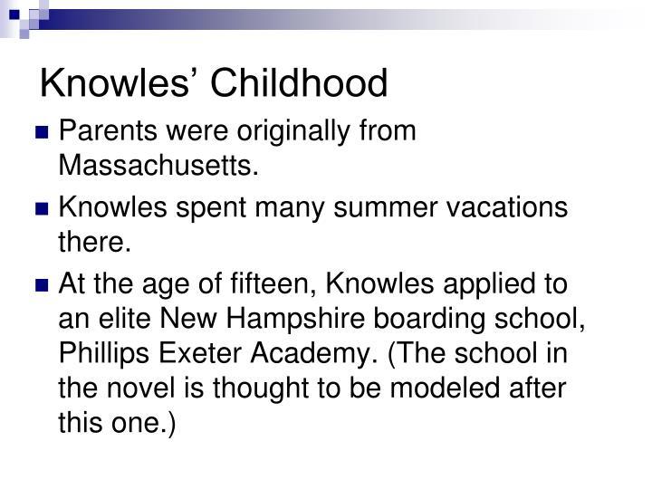 Knowles childhood