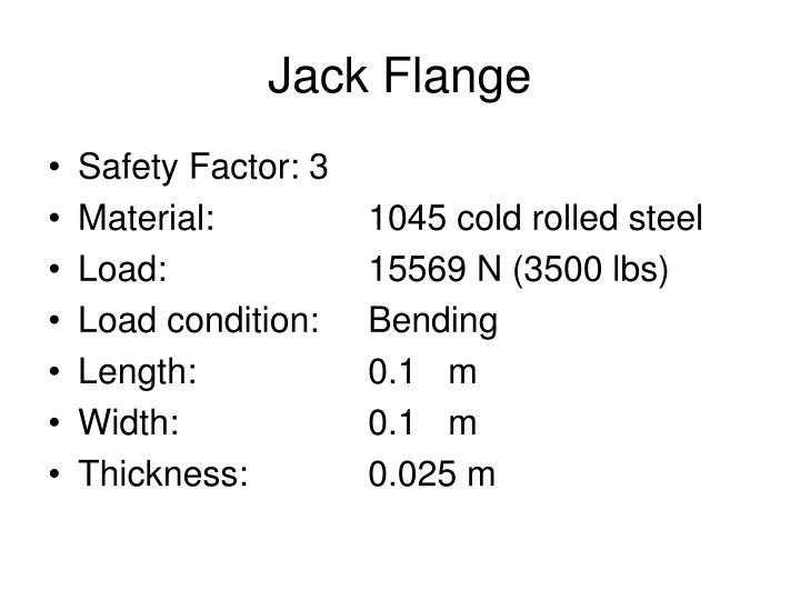 Jack Flange