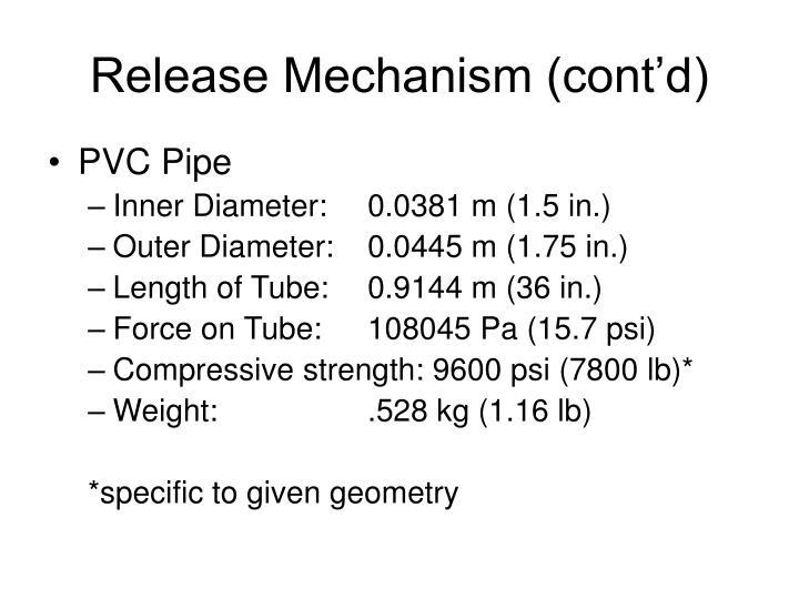 Release Mechanism (cont'd)