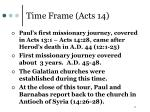 time frame acts 14