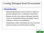 losing nitrogen from ecosystems