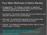 four main methods of satire review
