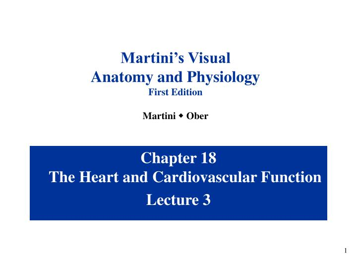 PPT Chapter 18 The Heart And Cardiovascular Function