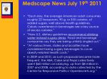 medscape news july 19 th 2011