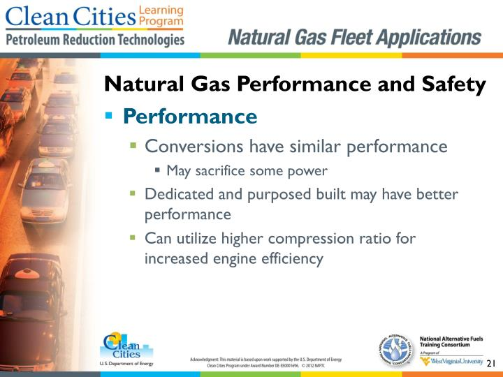Natural Gas Performance and Safety