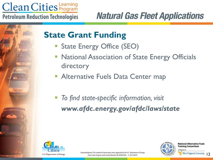 State Grant Funding