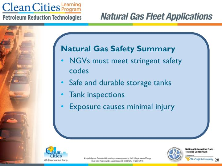 Natural Gas Safety Summary