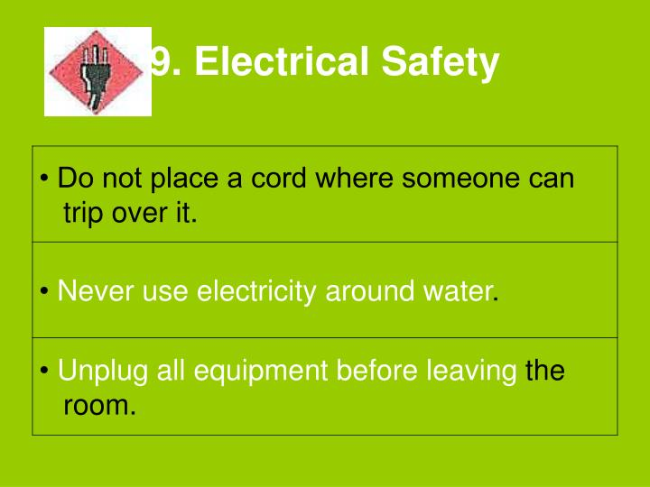 9. Electrical Safety