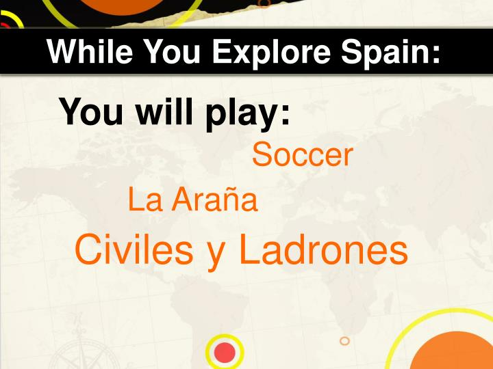 While You Explore Spain: