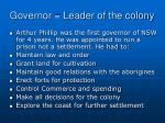 governor leader of the colony