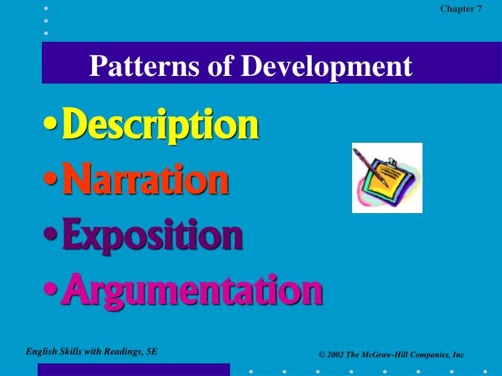 patterns of paragraph development Instruction in vocabulary development and effective reading are also covered students have opportunities to work individually as well as in collaboration with others.