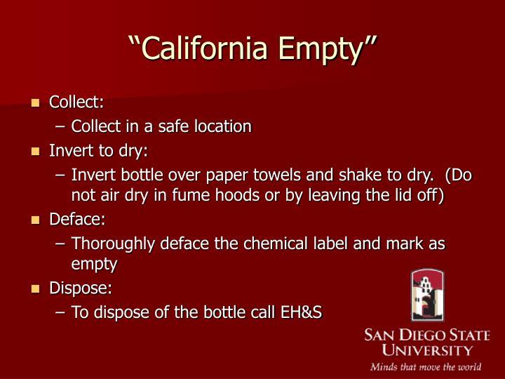 """California Empty"""