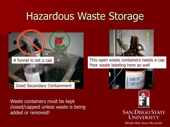 Hazardous Waste Storage