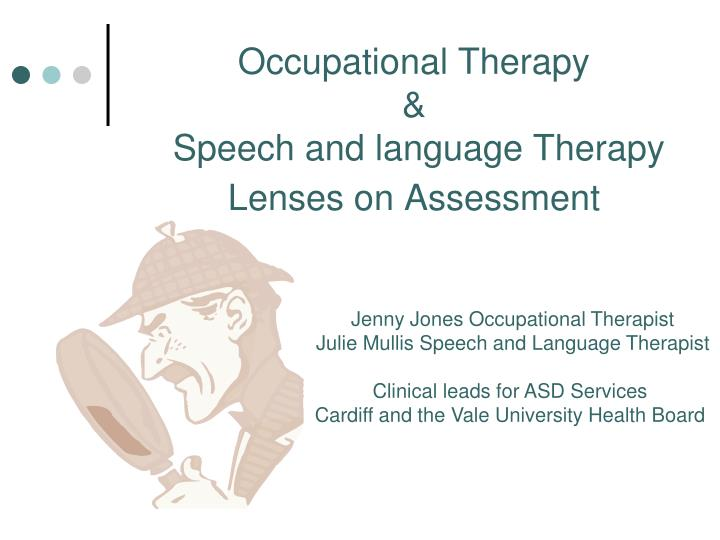 occupational therapy speech and language therapy lenses on assessment n.