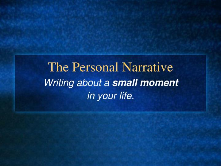 narrative essays on personal experience
