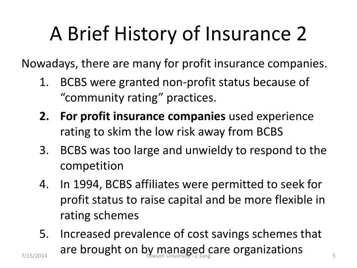 history of insurance Take care, mr elson: a hard road to health insurance | times documentaries | the new york times - duration: 36:05 the new york times 7,758 views.