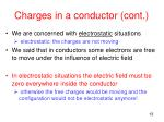 charges in a conductor cont