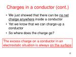 charges in a conductor cont2