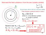 now want the field a distance r from the axis outside cylinder