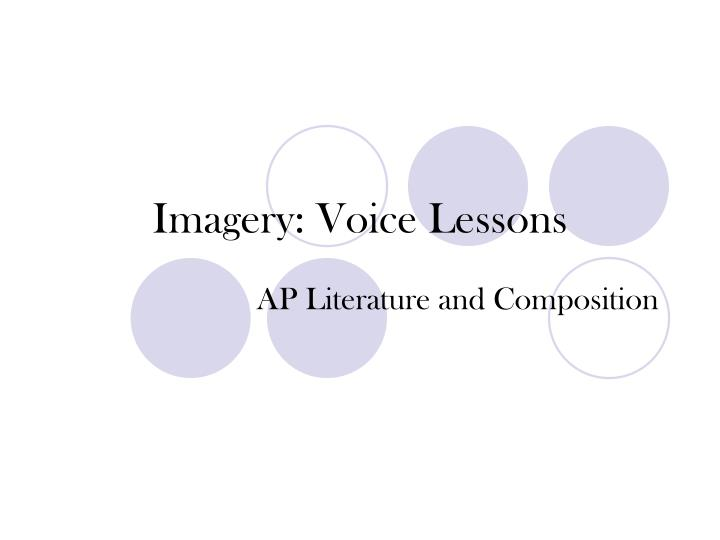 imagery voice lessons n.