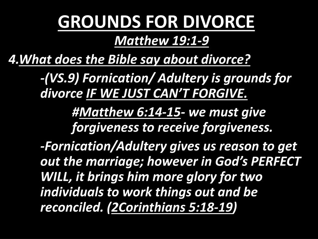 PPT - GROUNDS FOR DIVORCE PowerPoint Presentation - ID:1782982