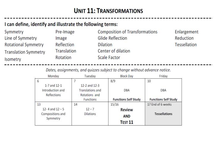 PPT A Transformation Is A Change In The Position Size Or