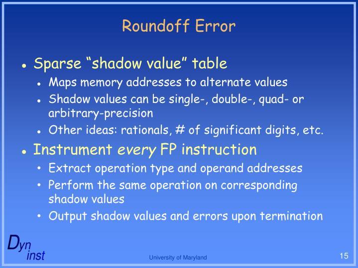 Roundoff Error