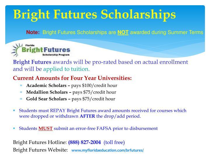 Bright Futures Scholarships